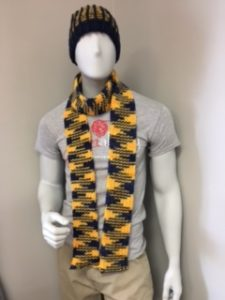 ribbed pennant scarf