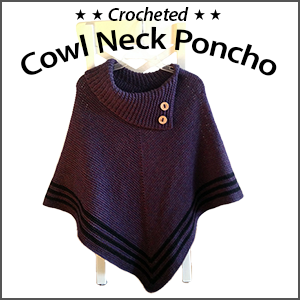 Cowl Neck Poncho