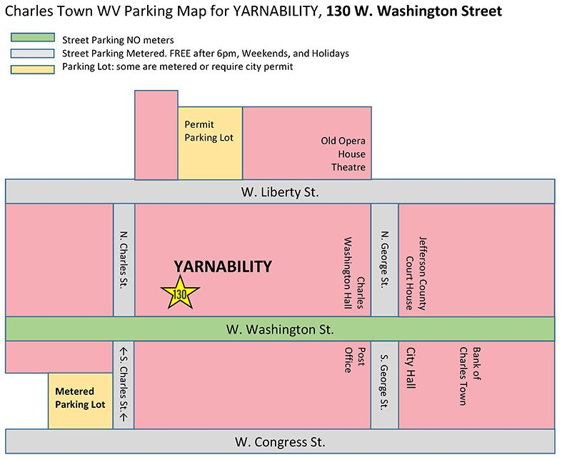 Charles Town Parking Map 0919