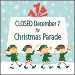 Closed for Christmas Parade
