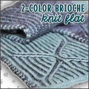 2-Color Brioche Knit Flat