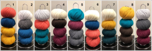 Gimli Beach yarn choices
