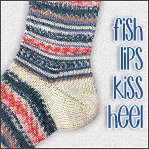 Fish Lips Kiss Heel Sock